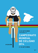 Spain Digital Art Posters - MY UCI Road World Championships MINIMAL POSTER 2014 Poster by Chungkong Art