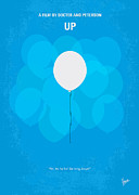 Balloons Art - My UP minimal movie poster by Chungkong Art