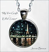 Paris Jewelry - My Van Gogh-Custom Pendant by Jennie Breeze