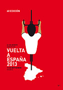 Cycling Framed Prints - My Vuelta A Espana Minimal Poster - 2013 Framed Print by Chungkong Art