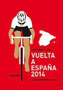 Cycling Art Metal Prints - My Vuelta A Espana Minimal Poster 2014 Metal Print by Chungkong Art