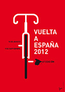 Cycling Framed Prints - My Vuelta A Espana Minimal Poster Framed Print by Chungkong Art