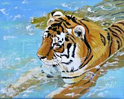 Cooling Off Prints - My Water Tiger Print by Phyllis Kaltenbach