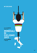 Tour De France Metal Prints - MY World Championships MINIMAL POSTER Metal Print by Chungkong Art