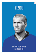 Featured Art - My Zidane soccer legend poster by Chungkong Art
