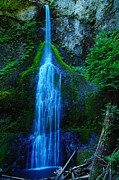Green Foliage Prints - Myamere Falls  Print by Jeff  Swan