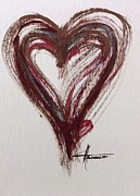 Awareness Posters - Myeloma Awareness Heart Poster by Marian Palucci