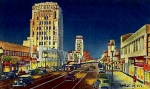 Wilshire Blvd. Framed Prints - Myer- Siegel Department Store And The Miracle Mile In Los Angeles Ca Around 1940 Framed Print by Dwight Goss