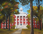 Academic Paintings - Myers Hall by Jacqueline DelBrocco