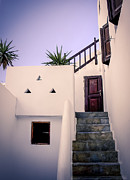 Staircase Prints - Mykonos Villa Print by Julie Palencia