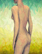 Decorative Nude Framed Prints - Myrrha Framed Print by Taylan Soyturk