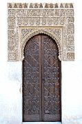Stucco Posters - Myrtle Doorway Poster by Marion Galt