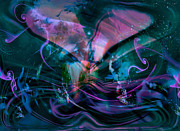 Abstract Hearts Digital Art - Mysteries Of The Universe by Linda Sannuti