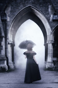 Black Dress Framed Prints - Mysterious Archway Framed Print by Joana Kruse