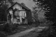 Old Barns Metal Prints - Mysterious Metal Print by Bill  Wakeley