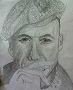 Gangster Drawings - Mysterious Man by Manasa Patapatnam
