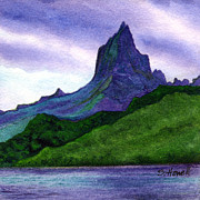 Moorea Paintings - Mysterious Moorea by Sandi Howell