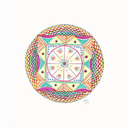 Mandalas Framed Prints - Mystery box Framed Print by Signe  Beatrice