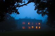 Haunted House Metal Prints - Mystery Night Metal Print by Svetlana Sewell