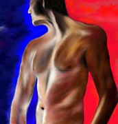 Manhood Prints - Mystery of A Man Print by Lori  Lovetere