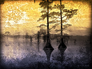 Waterscape Digital Art Digital Art - Mystery Reelfoot Lake Sunrise by J Larry Walker