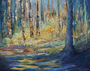 Canada Paintings - Mystic Forest by Joanne Smoley