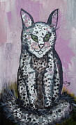 Cartoonish Framed Prints - Mystic Kitty Framed Print by Lugenia Dixon