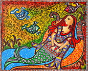 Mystic Mermaid Print by Deepti Mittal