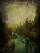 Cabin Wall Photo Originals - Mystic River by Leah Moore
