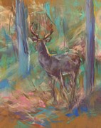Deer Pastels - Mystical Deer by Debbie Anderson