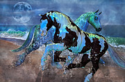 Ponies Digital Art - Mystical Midnight  by Betsy A Cutler East Coast Barrier Islands