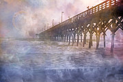 Fog Rising Posters - Mystical Morning Poster by Betsy A Cutler East Coast Barrier Islands