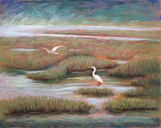 Heron Pastels - Mystical Morning by Karin  Leonard