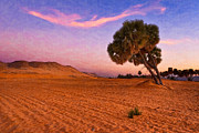 Desert Digital Art - Mystical Morning on the Egyptian Sahara by Mark E Tisdale