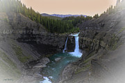 Alberta Water Falls Posters - Mystical Mountain Morn Poster by Laura Bentley