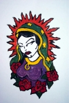Virgen De Guadalupe Paintings - Mystical Rose by Jane Madrigal