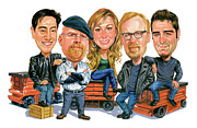 Caricature Paintings - Mythbusters by Art