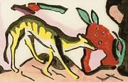 Mythical Animal  Print by Franz Marc