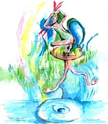 Demigod Prints - Mythical Creature from Ballets Russes Take 2 Print by Suzanne Ackerman