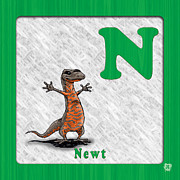 Abc Drawings - N for Newt by Jason Meents