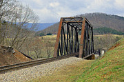 N W Railroad Trestle Print by Brenda Dorman