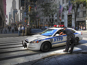 New York City Police Photos - N Y P D by Douglas J Fisher