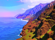 Lahaina Mixed Media Prints - Na Pali Coast Print by Dominic Piperata