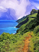 Kalalau Rainbow Framed Prints - Na Pali Coast from the Kalalau Trail Framed Print by Dominic Piperata