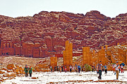 Greek Columns Digital Art - Nabatean and Greek and Roman Excavations in Petra-Jordan by Ruth Hager
