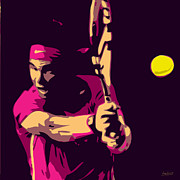 Tennis Racket Digital Art - Nadal - 3 by Herve Loiseau