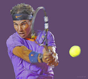 French Digital Art Originals - Nadal by Stephen Shub