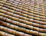 Byzantine Prints - Nafplio Roof Tiles Print by David Waldo