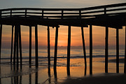 Wood Pylons Photos - Nags Head Pier Sunrise by Bruce Siulinski