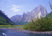Wayne Bonney Digital Art Framed Prints - Nahanni Valley Framed Print by Wayne Bonney